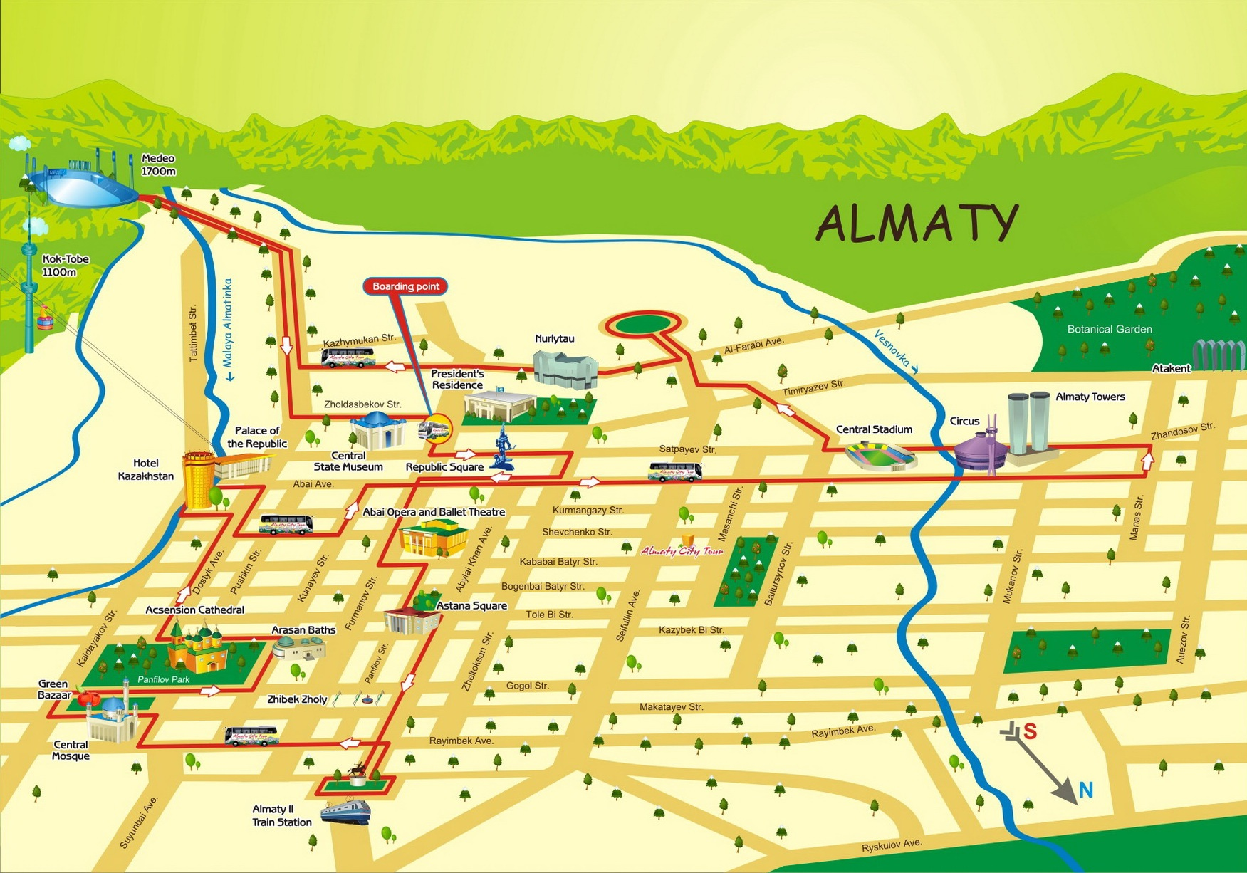 First meeting with almaty city tours to kazakhstan route map publicscrutiny Image collections