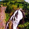 The waterfall Kock-Kol. Kazakhstan nature