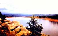 Maloulbinskoye reservoir. Kazakhstan Nature