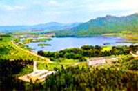 Lake Balkhash. Kazakhstan nature