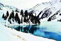 Big Almaty lake. Kazakhstan nature