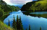 Kolsay Lakes. Kazakhstan nature